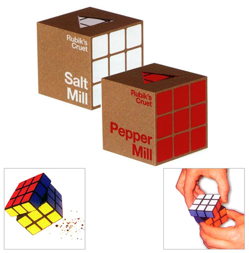 Rubik's Cube Salt and Pepper Mills