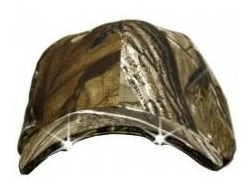 Camouflage Lighted Hat W/ 2 LED Lights