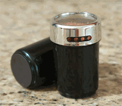 Magnetic Plastic Spice Bottle - Black by Lipper International