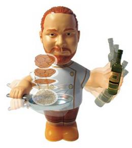 Food Flippin' Mario Batali Tin Wind-up Toy
