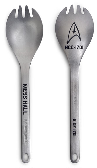 Officially Licensed Star Trek Limited Edition Titanium Collectible Spork