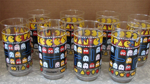 Pac-Man Drinking Glasses