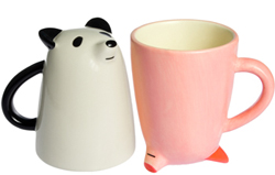 Upside Down Animal Mugs from Décole Japan