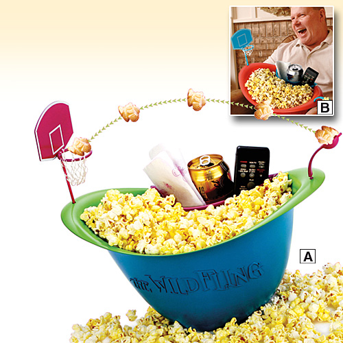 Wild Fling Popcorn Basketball Bowl