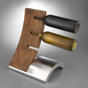Nambé Eclipse Wine Rack, designed by Neil Cohen.