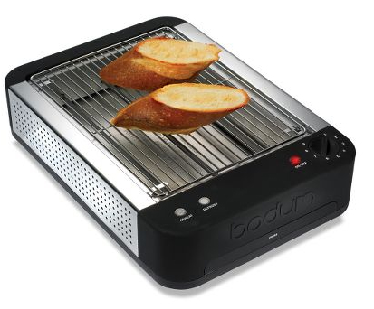 The Slotless Toaster by Bodum at Hammacher Schlemmer