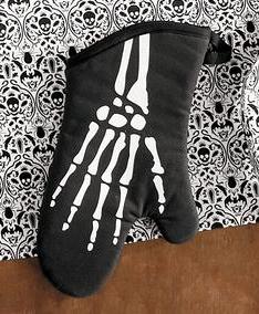 Skeleton Oven Mitt