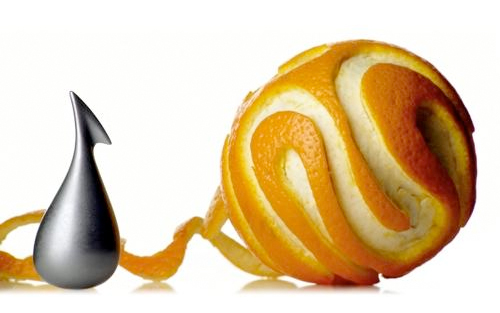 Apostrophe Orange Peeler by Gabriele Chiave for Alessi
