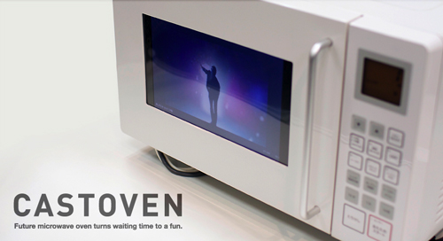 The CastOven, a YouTube enabled microwave oven.