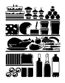 X-Ray Kitchen Fridge Wall Sticker