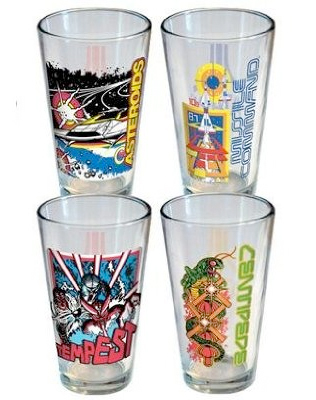 Atari Arcade Pint Glass 4 Pack