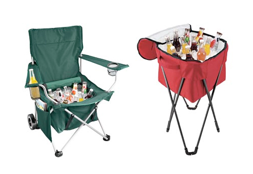 All-in-1 Chair and Foldable Cooler Tub