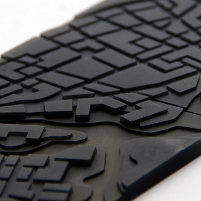 Flowing City Coasters by Megawing - close up
