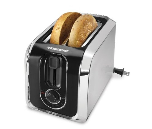 Black & Decker TR1200SB 2-Slice Stainless Steel Toaster with Retractable Cord, Stainless Steel