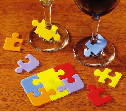 Puzzle Wine Glass Markers