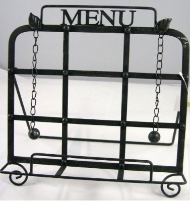 Iron Menu Holder Cookbook Stand
