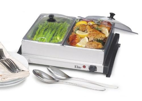Maxi-Matic EWM-6622 Elite Gourmet Double Buffet Server and Warmer