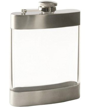 True Fabrications 6-Ounce Acrylic Flask