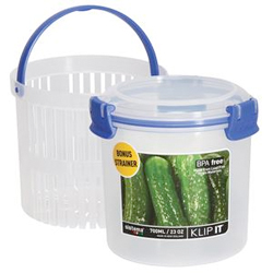Klip It Round Food-Storage Containers with Bonus Strainers