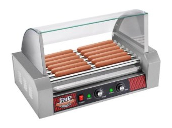 TOP DAWG Commercial 7 Roller Hot Dog Machine With Cover by Great Northern Popcorn