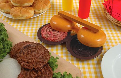 Double Plastic Hamburger Press