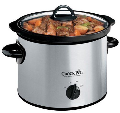 Crock-Pot SCR300SS 3-Quart Round Manual Stainless Steel Slow Cooker