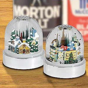 Gold Label Holiday Snowglobe Salt Pepper Shaker Set