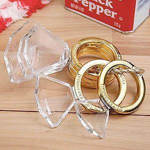Diamond Ring Shaped Goldtone Measuring Spoons
