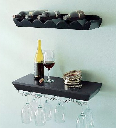 Ennospace Wine Shelf Rack Set Espresso