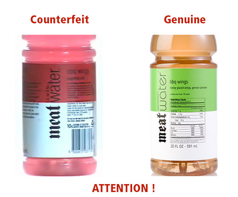 Warning on Counterfeit MeatWater for Australia.