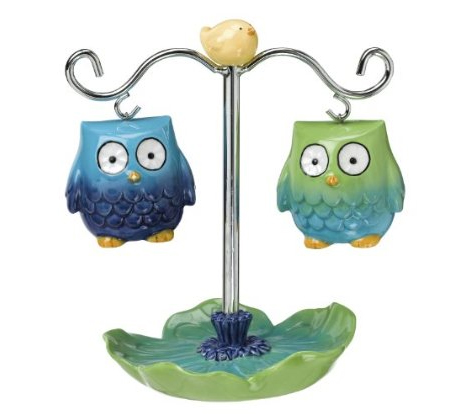 Grasslands Road Petals Owl Salt And Pepper Set