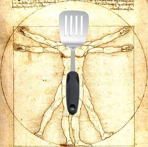 Da Vinci's little known work, Spatula Man.