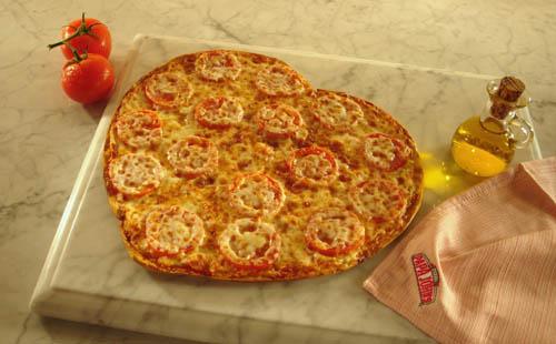 Papa John's Heart-Shaped Pizza