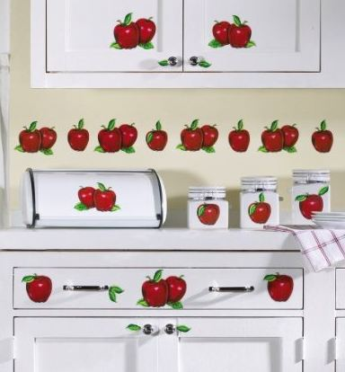 Apple Decor Stick-on Kitchen Decals by Collections Etc