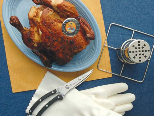 Steven Raichlen The Best of Barbecue Beer Can Chicken Set