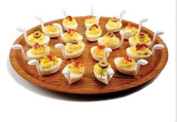 Fusionbrands Deviled Egg / Appetizer Holders, Set of 6