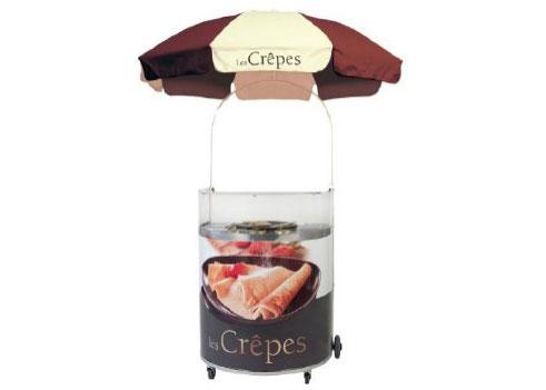 Krampouz Semi-Circular Chocolate Crepe Cart For Gas Griddle