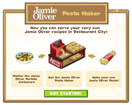 Playfish and Jamie Oliver cook up tasty recipes in Restaurant City
