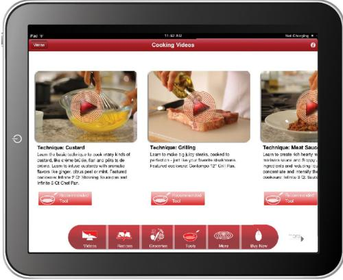 4,000 Skillets Giveaway with Re-launch of Free Circulon Cooks! iPad App. For more information, visit www.circulon.com.