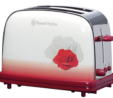 Meditative Rose on the 2-slot toaster from Russell Hobbs Dali Arts Collection.