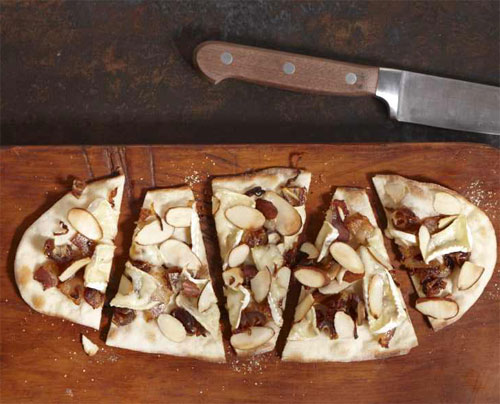 Date, Pancetta and Camembert Flat Bread Pizza
