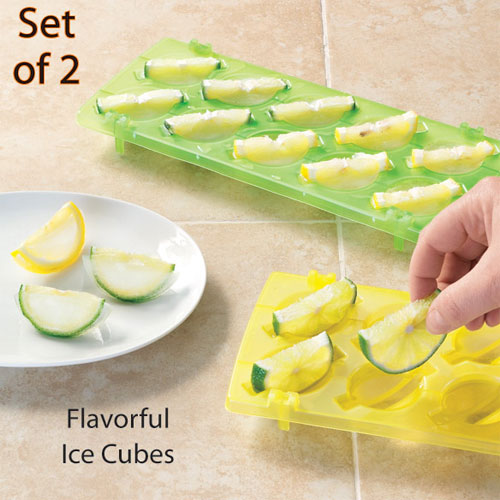 Lemon/Lime Ice Cube Trays - Set of 2