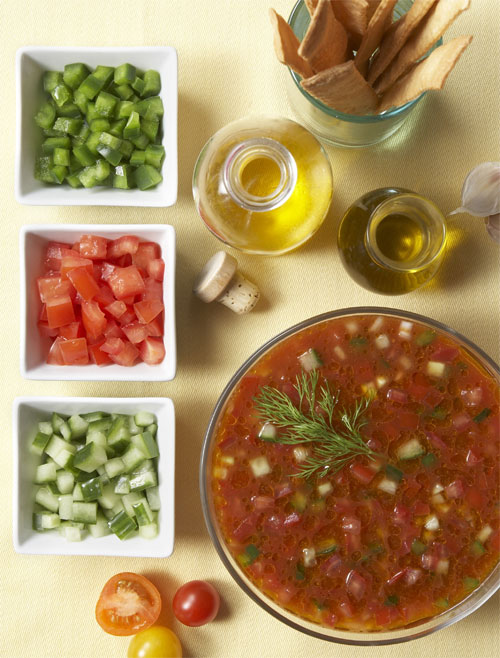 Gazpacho made with extra virgin olive oil (Photo: North American Olive Oil Association)