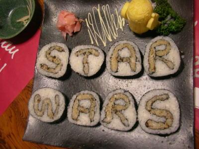 Star Wars Sushi by Japanese sushi chef, oki.