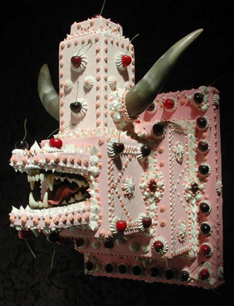 Trophy by Scott Hove. Acrylic and Mixed Media on Polyurethane Foam, 18