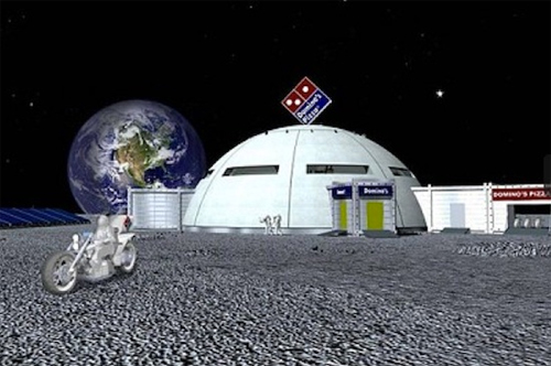 Maeda Corp's vision of what a Domino's Pizza outpost would look like on the moon.