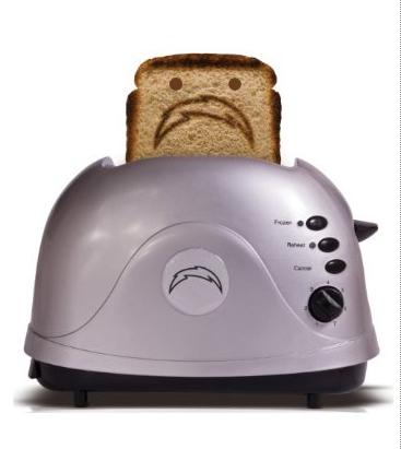 Sad San Diego Chargers Toast