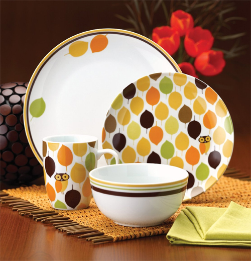 Rachael Ray Dinnerware Little Hoot Dinnerware Set