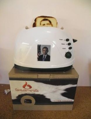 Burnt Impressions Obama Toaster
