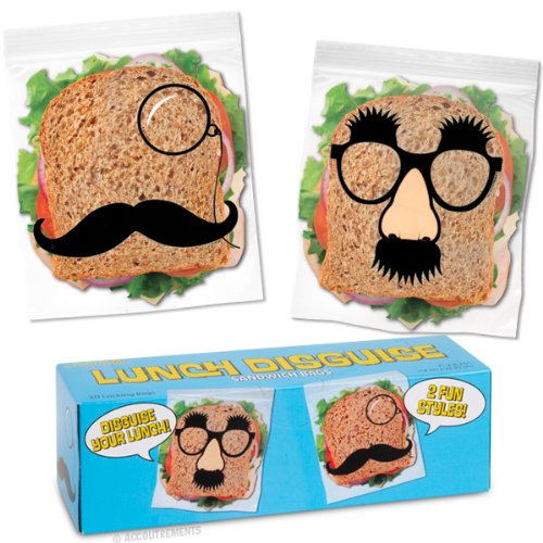 Lunch Disguise Sandwich Bags by Accoutrements